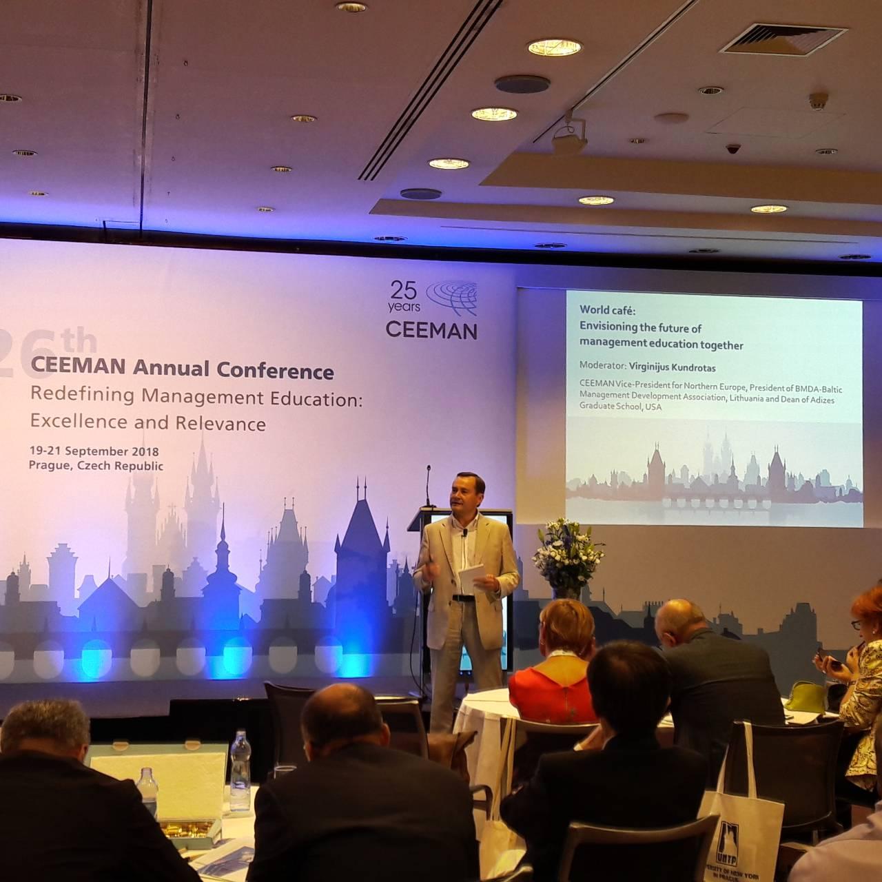 Adizes Instituto Vadovo Lietuvai Indėlis Tarptautinėje Vadybos Konferencijoje Prahoje