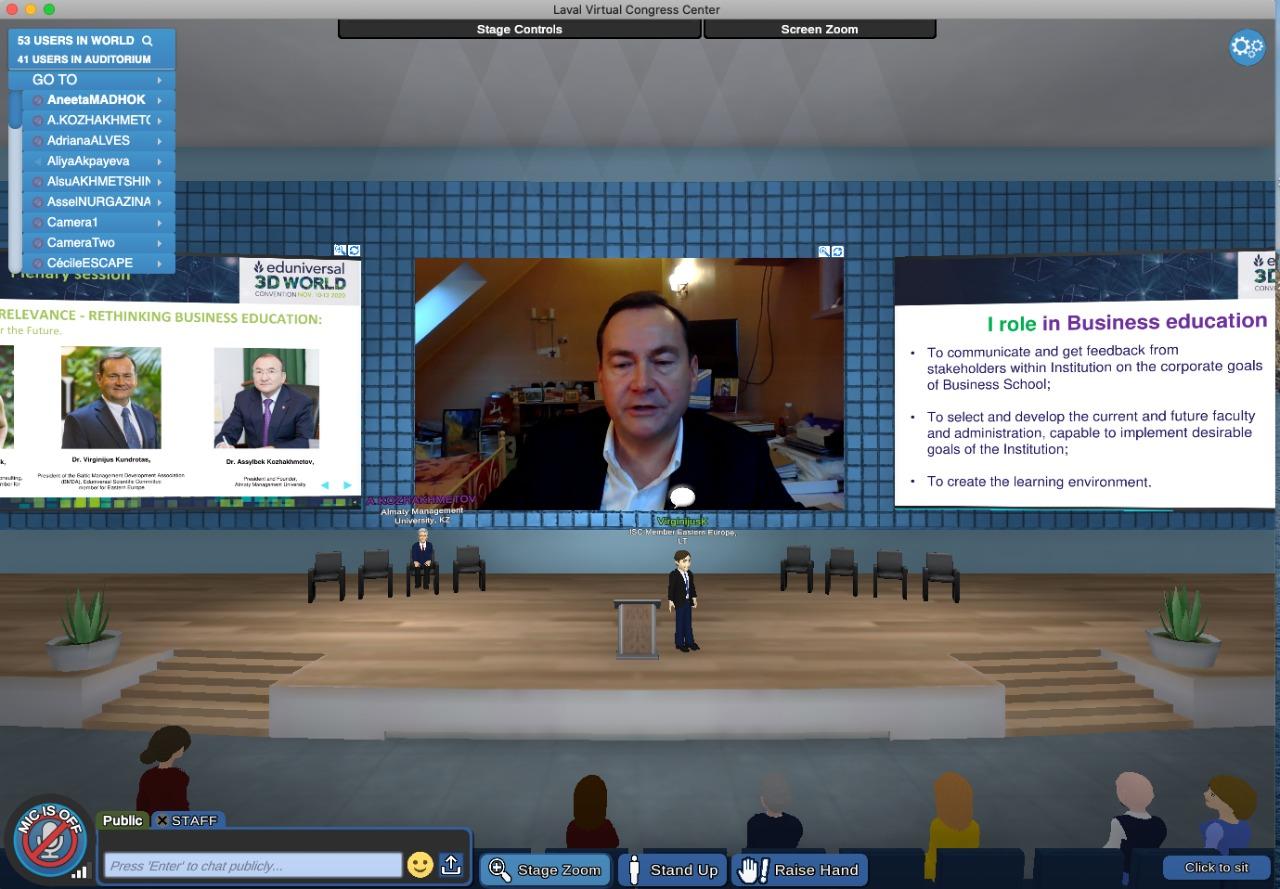 Dr. V. Kundrotas Skaitė Pranešimą Pasaulinėje Eduniversal Konvencijoje